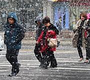 눈발 날리는 강추위