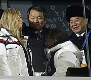 마주 본듯 안 본듯 이방카와 김영철