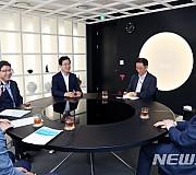 도종환 장관과 면담하는 허태정 대전시장 당선자