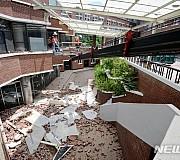 건물 외벽 적벽돌 떨어진 대구 한 고등학교