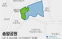 드론으로 본 광주 민간공원 사업지 <송암공원>