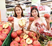 농협하나로마트 홍로 사과 판매