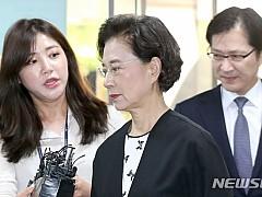 '필리핀 가정부 불법 고용' 이명희, 징역형 불복···2심 시작