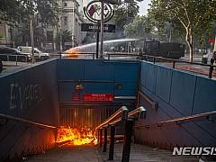 칠레, 지하철 요금인상 반대 시위 격화에 비상사태 선포
