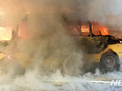 북구 한 아파트 앞 지나던 유치원 통학버스에서 불