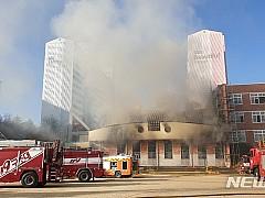 안동 초등학교 체육관서 불···학생·교사 6명 연기 흡입